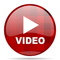 video red round glossy modern design web icon